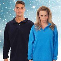 חולצת פליז עבה רבע רוכסן | לגברים ולנשים, מחממת ונעימה למגע, לתנאי קור