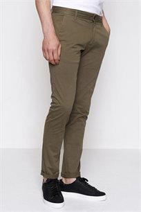 מכנסי בד קזואל לגבר DEVRED בצבע חאקי