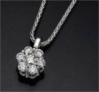 תליון זהב 14K משובץ יהלומים במשקל 0.35 נקודות - משלוח חינם!