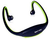 אוזניות ספורט עם נגן MP3 ורדיו FM מובנה ללא חוטים