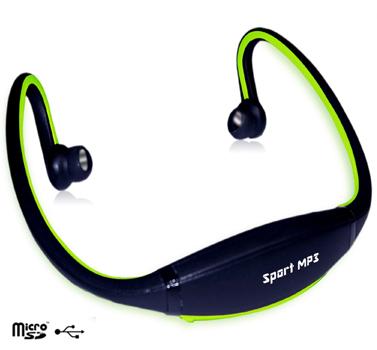 אוזניות ספורט עם נגן MP3 ורדיו FM מובנה ללא חוטים - תמונה 3