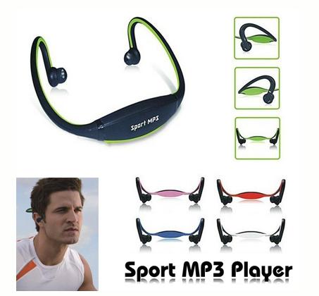 אוזניות ספורט עם נגן MP3 ורדיו FM מובנה ללא חוטים - תמונה 2