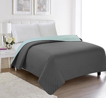 שמיכה קיצית דו צדדית בשלל צבעים 100% סאטן אל קמט בגודל יחיד או זוגי לבחירה - תמונה 4