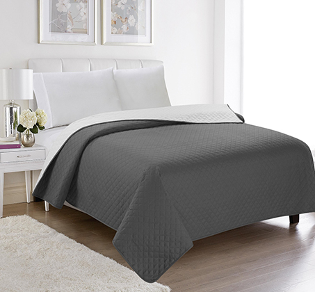שמיכה קיצית דו צדדית בשלל צבעים 100% סאטן אל קמט בגודל יחיד או זוגי לבחירה - תמונה 5