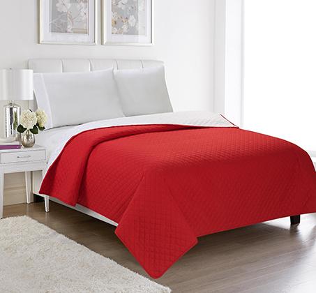 שמיכה קיצית דו צדדית בשלל צבעים 100% סאטן אל קמט בגודל יחיד או זוגי לבחירה - תמונה 2