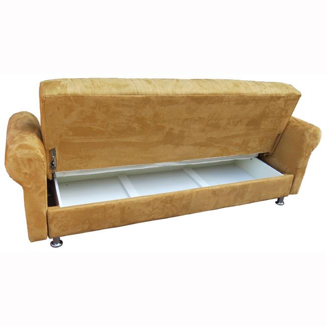 ספה תלת מושבית נפתחת למיטה גדולה כוללת ארגז מצעים דגם סידני OR design - תמונה 3