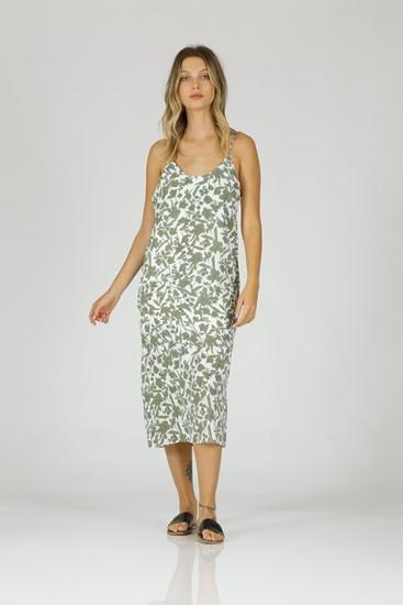 שמלה מוניק -ירוק