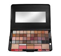 פלטת צבעים מקצועית Make-Up Pro הכוללת צלליות, סמקים, שימרים, פודרות וגלוסים Careline - משלוח חינם