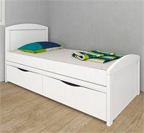 מיטה לחדרי ילדים עם מיטה תחתונה נשלפת ומגירות אחסון דגם אגם