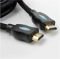 להפוך את הטלוויזיה הביתית לבית קולנוע פרטי! כבל HDMI באורך 1.5 מטר, בתקן 1.4a התומך בתלת מימד