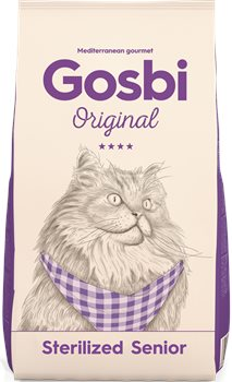מזון לחתולים זקנים גוסבי סניור סטרלייזד עוף והודו 3 ק''ג