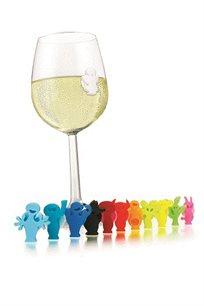 12 מסמני כוסות אנשים מבית VACU VIN לאווירה חגיגית ושמירה על כוס אישית