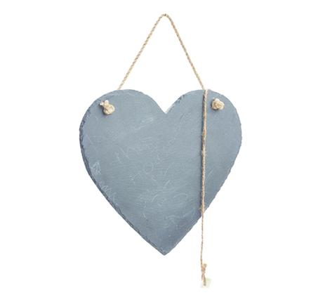 לוח מחיק בעיצוב לב עשוי אבן טבעית