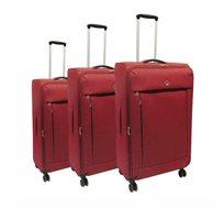 swiss travel סט 3 מזוודות superlight אדום