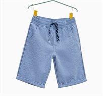 מכנסי ברמודה עם שרוך לילדים בצבע כחול