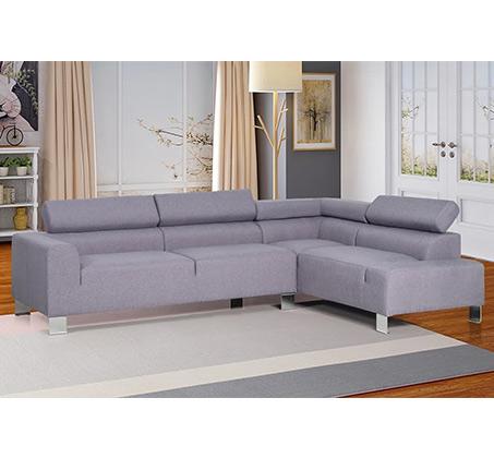 ספה פינתית בעיצוב מודרני מרופדת בצבע אפור דגם אמפרס VITORIO DIVANI - תמונה 4