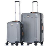 """JEEP MIAMI סט 2 מזוודות קשיחות 24"""" + 28"""" Silver"""