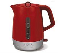 קומקום חשמלי 1.5 ליטר מסדרת CHROMA דגם 101209T בצבע אדום 3000 וואט Morphy Richards - מתצוגה