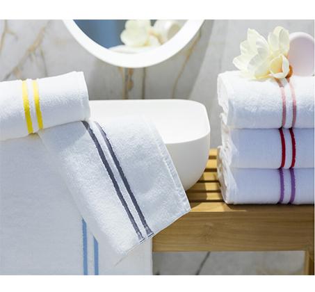 סט 3 מגבות אמבט פסים בצבעים לבחירה