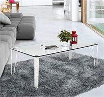 שולחן לקפה בעל פלטת זכוכית