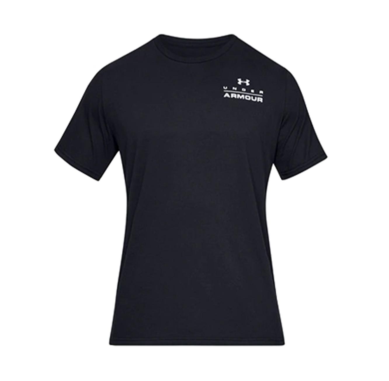 חולצת טישרט לגברים Under Armour SS19 UA STACKED LEFT CHEST SS - שחור