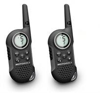 זוג מכשירי ווקי טוקי מדגם T6 של Motorola, כולל סוללות נטענות