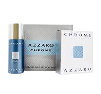 מארז Azzaro chrome לגבר בושם ודאודורנט + מסקרה מתנה