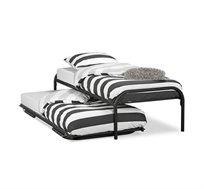 מיטה נפתחת רגלי מתכת ובסיס עץ מלא היירייזר דגם BRADEX Paleta
