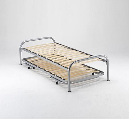 מיטה נפתחת רגלי מתכת ובסיס עץ מלא היירייזר דגם BRADEX Paleta - תמונה 4