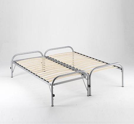 מיטה נפתחת רגלי מתכת ובסיס עץ מלא היירייזר דגם BRADEX Paleta - תמונה 3