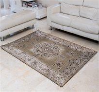 שטיח איכותי באריגת ג'אקרד KIRMAN-OLIVE תוצרת הודו במגוון גדלים