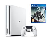 קונסולה PlayStation 4 Pro בנפח 1TB עם המשחק DESTANY 2  +מטען זוגי מתנה