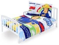 סט מצעים 3 חלקים 100% כותנה למיטת תינוק/מעבר סמי הכבאי צבעוני