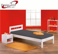 ישנים בסטייל! מיטת נוער מדליקה בעיצוב צעיר מעץ מלא, תוצרת צרפת בצבע לבן עדין לשמירה על טקסטורת העץ
