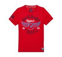 טישרט SUPERDRY Heritage Classic לגברים בצבע אדום