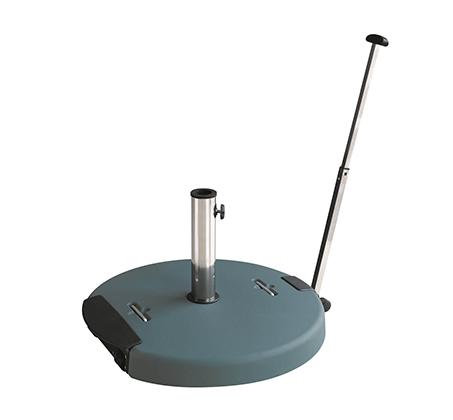 בסיס בטון לשמשיה עם ידית נשיאה וגלגלים