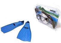 סט צלילה לילדים מפלסטיק איכותי ועמיד כולל משקפת, שנורקל וסנפירים מבית ENERGYM