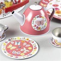 סט תה במזוודה 9 חלקים פרפרים
