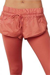 מכנס טייץ קצר STELLA MCCARTNEY בצבע אדום אפרסק