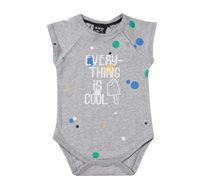 בגד גוף קצר Minene לתינוקות - אפור בהיר מודפס