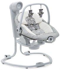 נדנדה חשמלית וטרמפולינה לתינוק 2 ב 1 - חום מפוספס Arrows