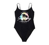 בגד ים שלם Superdry Ombre Scoop לנשים בצבע שחור