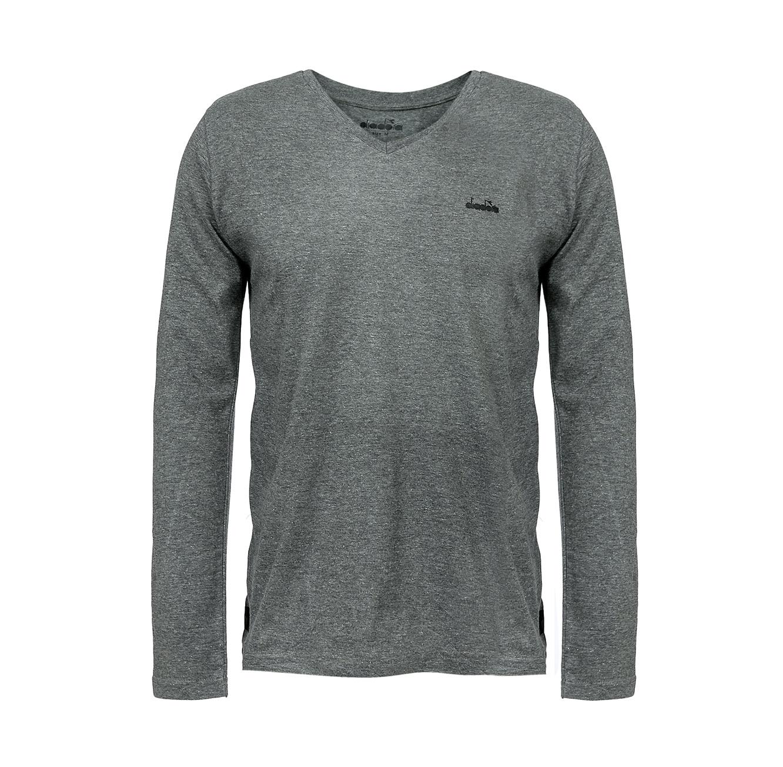 חולצת טישירט עם צווארון וי לגברים DIADORA דגם 9165101 - צבע לבחירה