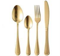 מערכת סכום 24 לב באריזה מהודרת ל-6 סועדים בגימור זהב Pierre Cardin