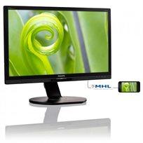 """מסך מחשב Philips בגודל """"23.8 תצוגת LED דגם 241P6EPJEB עם אפשרות MHL לצפייה דרך סמארטפונים תומכים - משלוח חינם"""