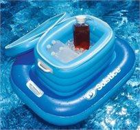 קולר תא צינון צף מתנפח המורכב משני חלקים ושומר על אספקה שוטפת של משקאות קרים - משלוח חינם