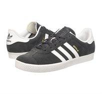 נעלי אדידס אוריגינל אופנתיות לנשים ונוער ADIDAS ORIGINAL GAZELLE 2J BA9316 בצבע אפור כהה/לבן