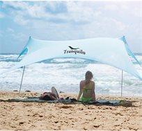 ערכת הצללה ענקית MultiTent מבד ליקרה לים וקמפינג המסננת כ-98% קרינה UV