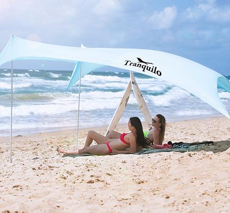 ערכת הצללה ענקית MultiTent מבד ליקרה לים וקמפינג המסננת כ-98% קרינה UV - משלוח חינם - תמונה 3