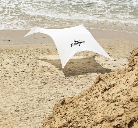 ערכת הצללה ענקית MultiTent מבד ליקרה לים וקמפינג המסננת כ-98% קרינה UV - משלוח חינם - תמונה 5